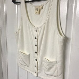 Ivory Button Front Crop Top